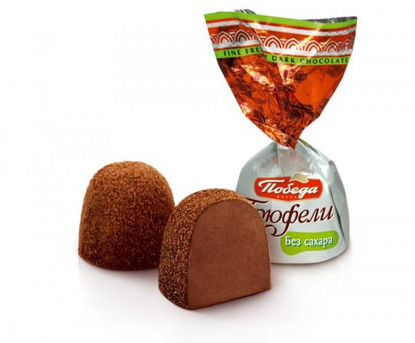 Suhkruvabad šokolaadi trühvlid